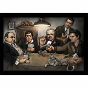Gangsters Playing Poker Poster With Choice Of Frame 24x34 Large