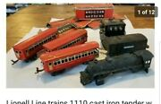 Lionell Line Trains 1110 Cast Iron Tender W Whistle Three Metal 1690 1691,boxes