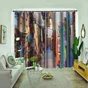 Street Walls Covered With Graffiti Printing 3d Blockout Curtains Fabric Window