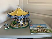 Lego Amusement Park Lot Of 12 - Roller Coaster Carousel Ferris Wheel And More