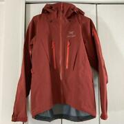 Arcteryx α-sv Gore-tex Mountain Parka Red Size M Never Used From Japan F/s