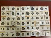 1800 And 1900's Foreign Silver Coins Lot Of 60 Mixed Countries, See Photo's