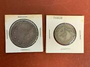 Lot Of 2 Old Turkey Silver Coins From Old Time Hoard