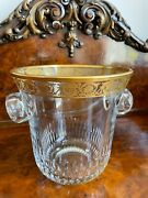 Saint-louis Thistle Champagne Crystal Ice Bucket -slightly Used- Retails 1,500