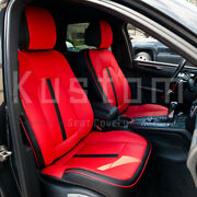For 15-up Porsche Macan | Custom Fit Red And Black Waterproof Leather Seat Covers