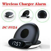 Multifunctional Wireless Charger Bedside Lamp Wireless Charger Clock Alarm 5v/2a