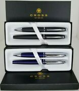 New/sealed Cross Calais Gift Set Bundle 2 Sets Of 2 Ballpoint And Rollerball Pens