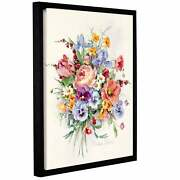 Barbara Mockand039s Teal Ribbons Gallery Wrapped Floater-framed Small