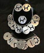 Unusual Whimsical Aluminum Charms Necklace Bracelet Earrings And Pin Set/parure