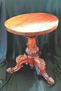 Exquisite Antique Victorian Triple Carved Mahogany Piano Stool Adjustable