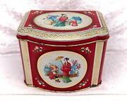Small Vintage Chinoiserie Sweet/tea Tin/caddy-asian/chinese/japanese Design