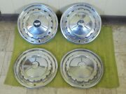 1957 Chevrolet Hub Caps 14 Set Of 4 Chevy Hubcaps Wheel Covers 57