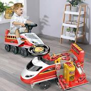 Ride-on Toy Electric High-speed Rail Train Fire Fighting Race Tracks Car Age 2-6