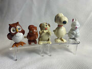 Vtg Wind Up Lot United Artists Snoopy Tomy Owl / Squirrel Hans Dog And Rabbit