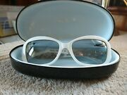 Thierry Mugler Vintage Sunglasses White With Filigree Stars On Side Vgvc