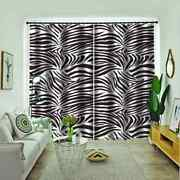 Thick Lines Of Different Lengths Printing 3d Blockout Curtains Fabric Window