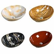 Ceramic Above Counter Sinks Bathroom Wash Basin Marble With Drain Pipe Accessory