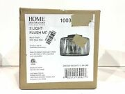 Home Decorators Collection 3-light Black Flush Mount W/clear Glass Crystal Shade