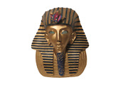 Ancient Egyptian King Tut Ceramic Bust Statue Tea Light Candle Holder 10 Tall