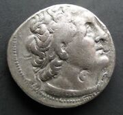 Ancient Egypt Ptolemy Ii Old Silver Tetradrachm Coin13 Gr.