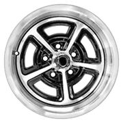 For Chevy Camaro 1967-1981 Dynacorn Polished And Black 15x7 Alloy Wheel