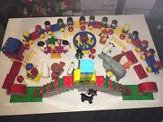 Lego Duplo Train/circus Set Up 'used' Awesome 95 Pieces Good Condition Box A-023