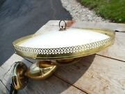 Vintage 16 Mid Century Pull Down Ceiling Light Atomic Saucer Hanging Lamp