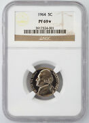 1964 Proof Jefferson Nickel Ngc Pf69 Star Superior Eye Appeal 324001