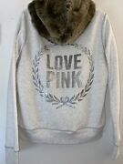 Extremely Rare Nwot Vs Pink Bling Fur Hoodie