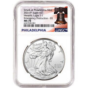 2021-p American Silver Eagle - Ngc Ms70 Early Releases Emergency Production