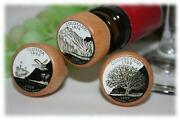 1- State Quarter Wine Stoppers Personalized Wine Stopper 50 States Texas Stopper