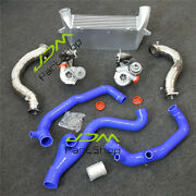 17t Turbos + Fmic Intercooler + Inlet Outlet Pipes + Down Pipe For Bmw 335i N54