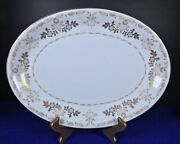 Vintage Harmony House - Classique Gold 14 Oval Serving Platter - Made In Japan