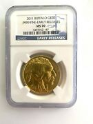 2011 Buffalo Gold 50 Early Releases Ms70 Ngc