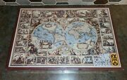 1983 Fx Schmid Puzzle 1500 Pieces World Map Jigsaw West Germany Sealed Vtg Nos
