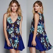 Nwt Free People Back Yard Party Printed Tunic