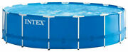 """Intex 28241eh 15' X 48"""" Metal Frame Above Ground Pool Set With Filter Pump"""
