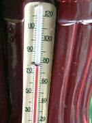 1940and039s Vintage Rare Coca Cola Metal Green Numbered Robertson Bottle Thermometer