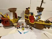 Disney Jake And The Neverland Pirates Bucky N Roger With Crew Complete Working 1