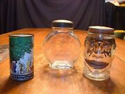 3 Vintage Glass And Tin Still Penny Banks
