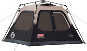 Coleman Cabin Tent W/ Instant Setup In 60 Seconds. Brown Black 4 Person Steel