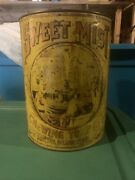 Vintage Tin Sweet Mist Chewing Tobacco General Store Counter Display Can