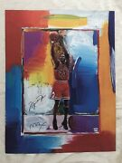 Michael Jordan Lithograph - Peter Max With Remarque Uda / Psa-dna - 110/123