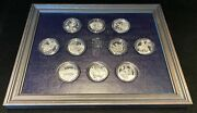 1971-72 Franklin Mint Official Coin-medals Of Indian Tribal Nations .999 Silver