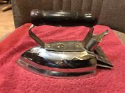 Rare Vintage Coleman Lamp And Stove Electric Iron. Model 36wood Handle.