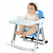 Babyjoy Baby Seat Booster Folding High Chair Home W/ Safety Belt And Tray Toddler