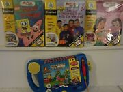3 Leap Frog My First Leap Pad Book And Cartridge--disney--wiggles---sponge Bob--
