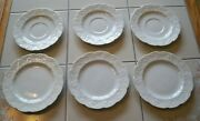 3 Vintage Dansk Lierre Lauvage France White Ivy Bread And Butter Plates 3 Saucers