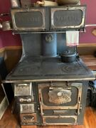 Antique Stove - The Great Magestic 6449 With Warmer And Side Shelves
