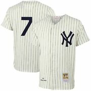 Mickey Mantle New York Yankees Mitchell And Ness Mlb Authentic Jersey - Cream